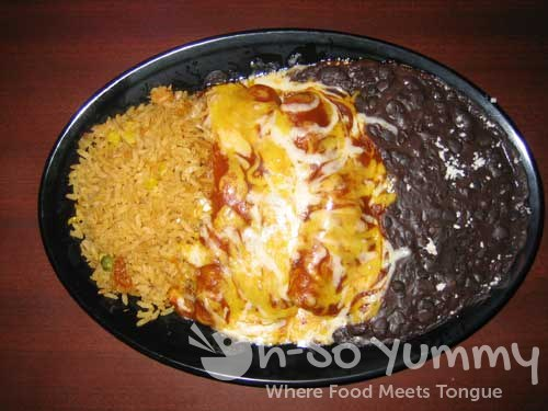 Fred's Mexican Cafe chicken enchiladas