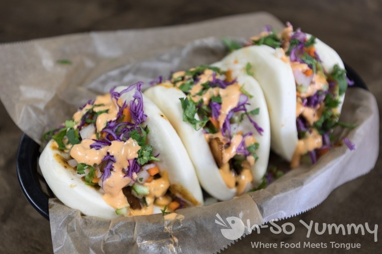 Pork Bao Trio at 102 Hub in Mira Mesa