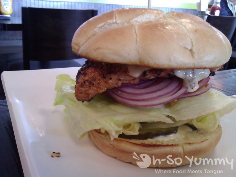 Anny's Fine Burger - Salmon Steak Burger