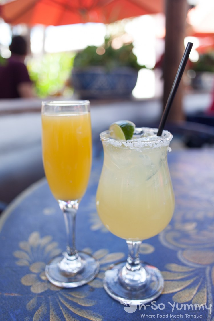 Mimosa and Margarita at Casa de Reyes in San Diego Old Town