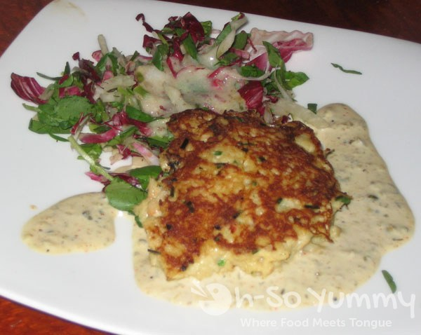 Jakes Del Mar Dungeness and King Crabcake