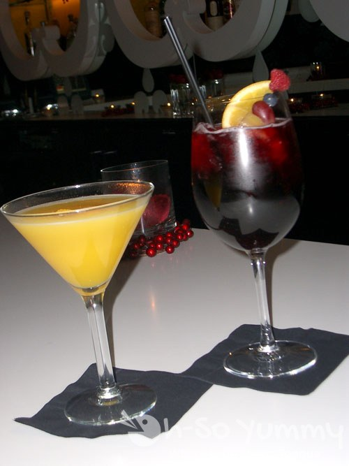 Mango Martini and Dragon's Blood Sangria