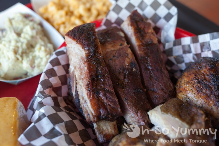Smoked Pork Ribs at Sque BBQ