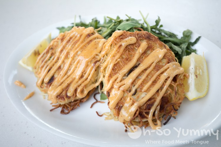 Capellini Crabcakes at The Cottage La Jolla