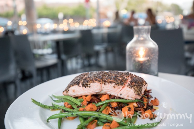 Pepper Crusted Salmon at The Cottage La Jolla