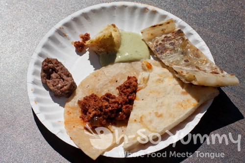 Taste of North Park 2011 - Spice Mexican and Mediterranean Fusion sampler