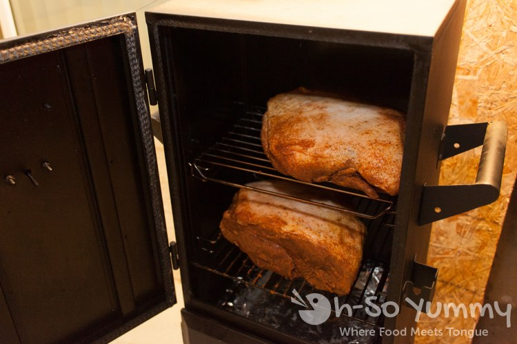 Pork Shoulder in Vertical Smoker
