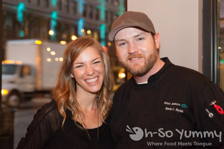 Taste of Downtown 2014 - Spike Africa's Chef Kevin Bryan and wife