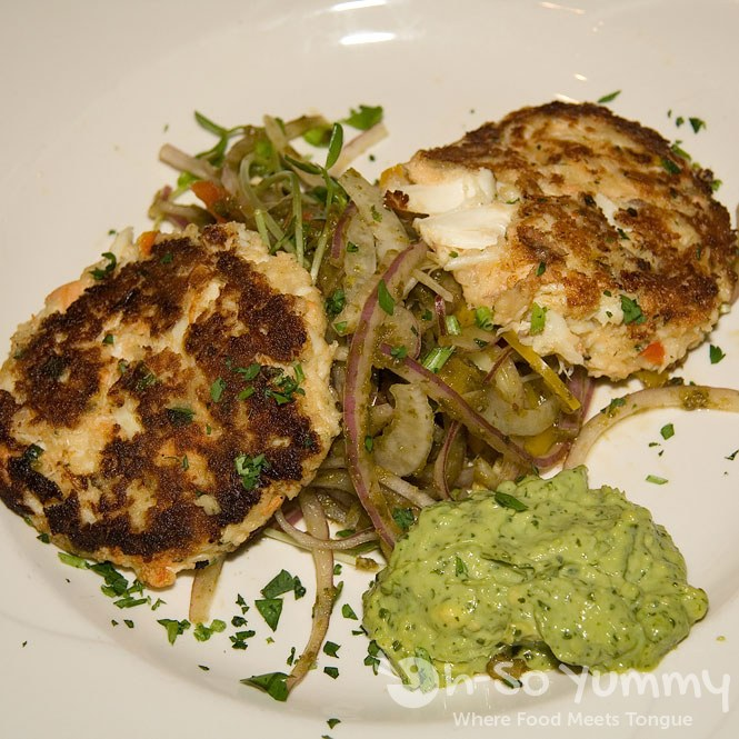 Blue Lump Crab and Salmon Cakes