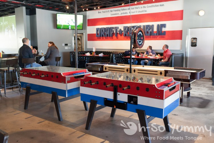 foosball at Draft Republic in La Jolla
