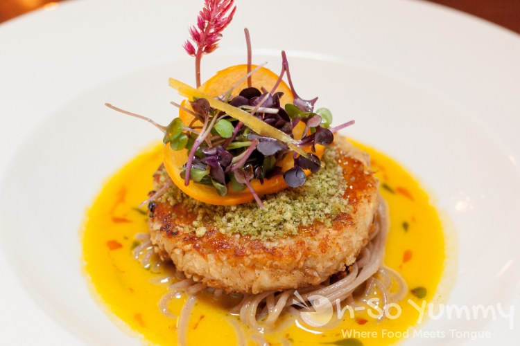 Pacific Blue Crab Cake at the Marine Room in La Jolla