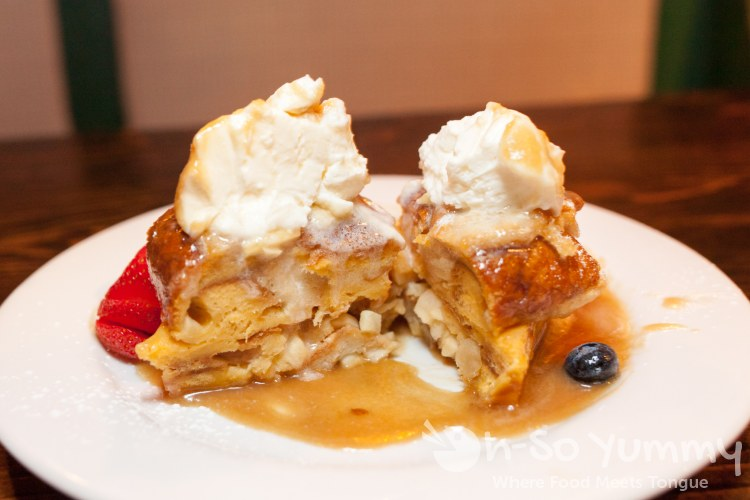 Caramel Apple Bread Pudding at The Field