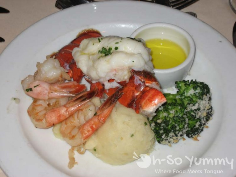 Lobster Tail with Shrimp