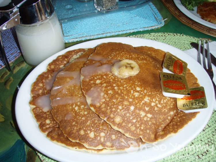Banana Pancakes with Coconut Syrup