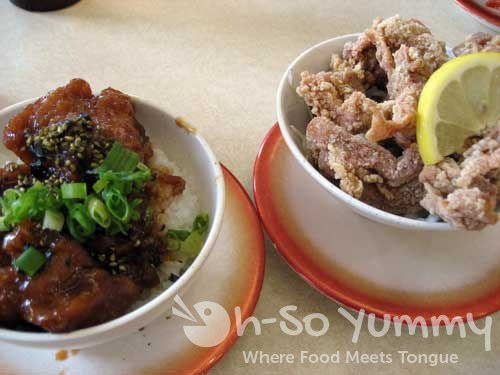Teriyaki Chicken Bowl and Chicken Karaage