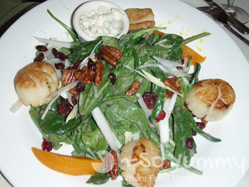 Pan Seared Scallops Salad