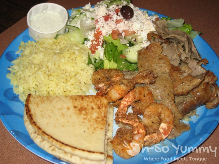 Shrimp and Gyros Platter