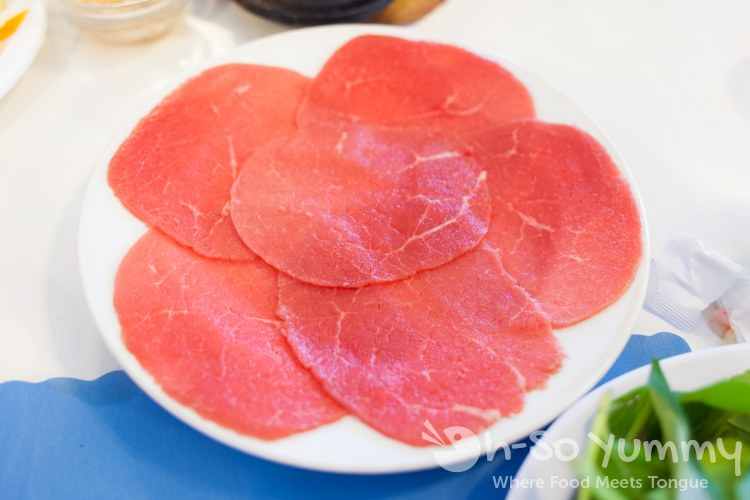 slices of tenderloin at Anh Hong Restaurant in Garden Grove