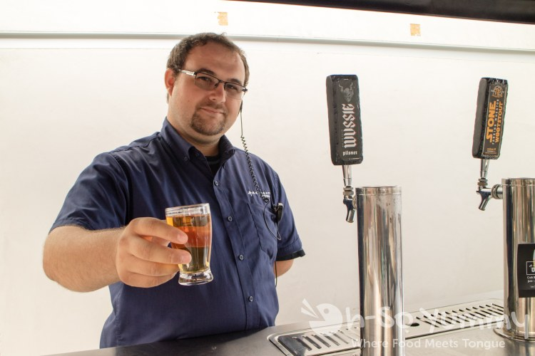 Patrick serving Stone Brewing Co. beers at ArcLight on Tap in La Jolla CA