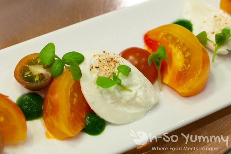Tomato and Burrata Salad at AVANT in Rancho Bernardo Inn