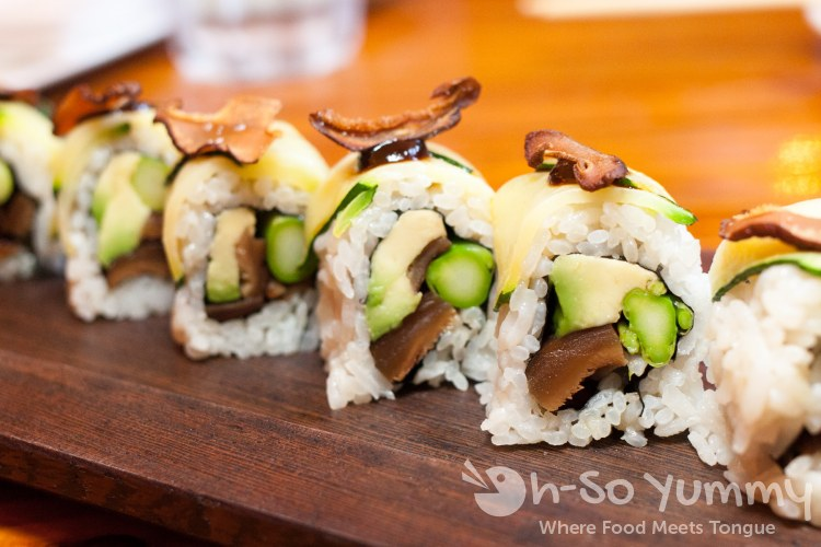 shiitake specialty roll at Azuki Sushi in San Diego