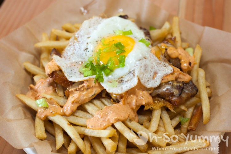 Roasted Pork Belly Fries at Baguette Bros