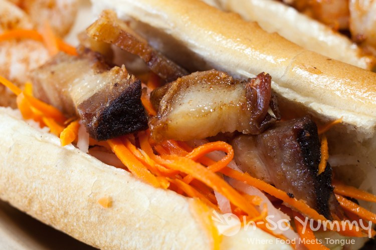 Belly Flop (Roasted Pork Belly) Banh Mi at Baguette Bros