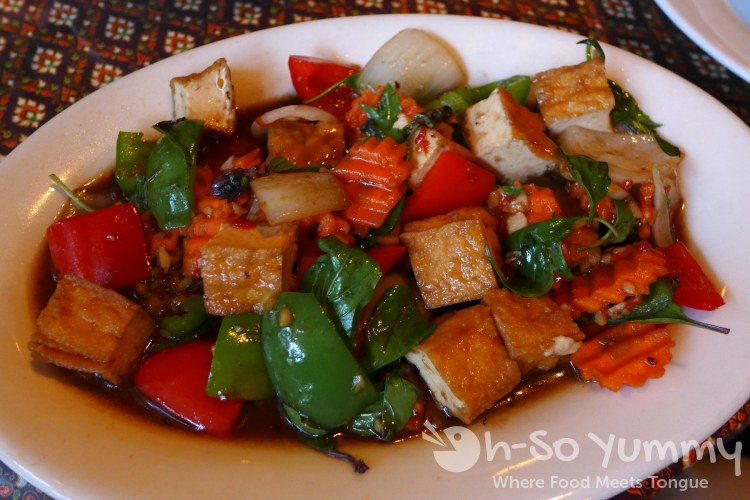 Bangkok Bay - hot basil tofu