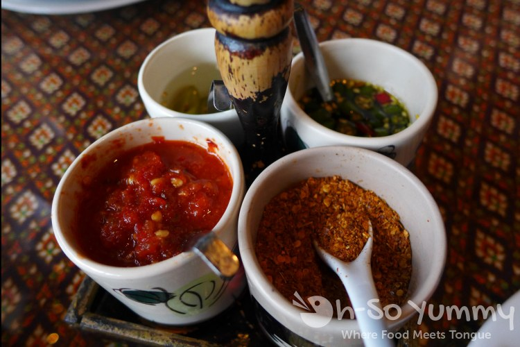 Bangkok Bay Restaurant in Solana Beach - sauces