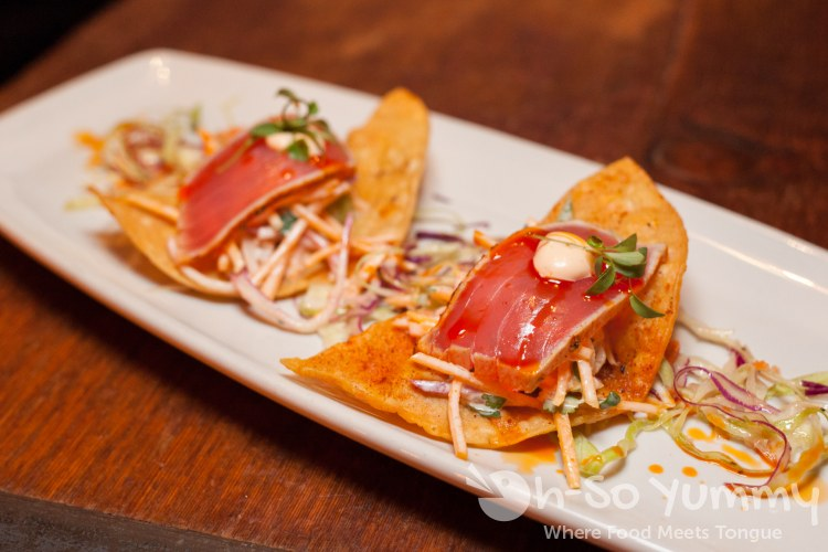 Ahi Tuna Tostadas at Bankers Hill Bar + Restaurant