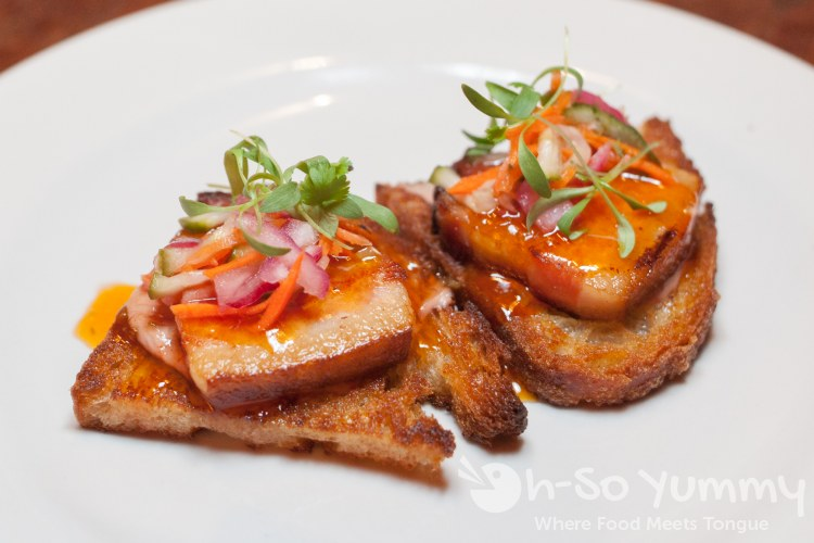 Braised Pork Belly Bruschetta at Bankers Hill Bar + Restaurant