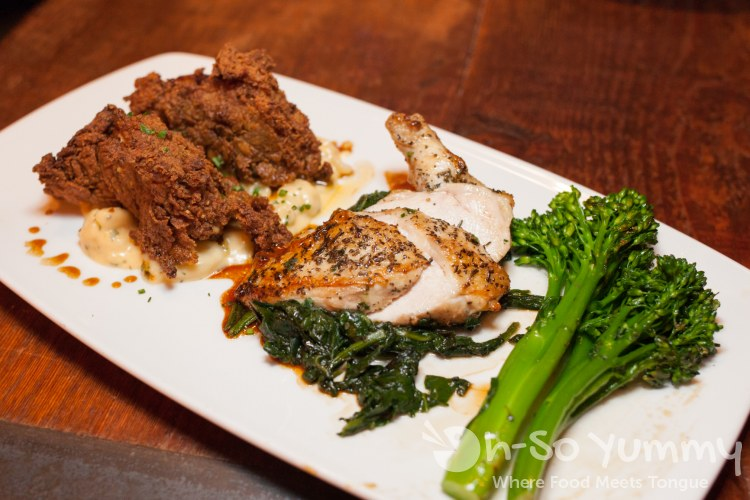Free range Chicken Two Ways at Bankers Hill Bar + Restaurant