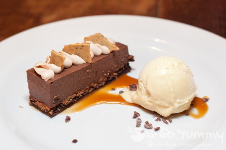 Chocolate Hazelnut Crunch Bar at Bankers Hill Bar + Restaurant