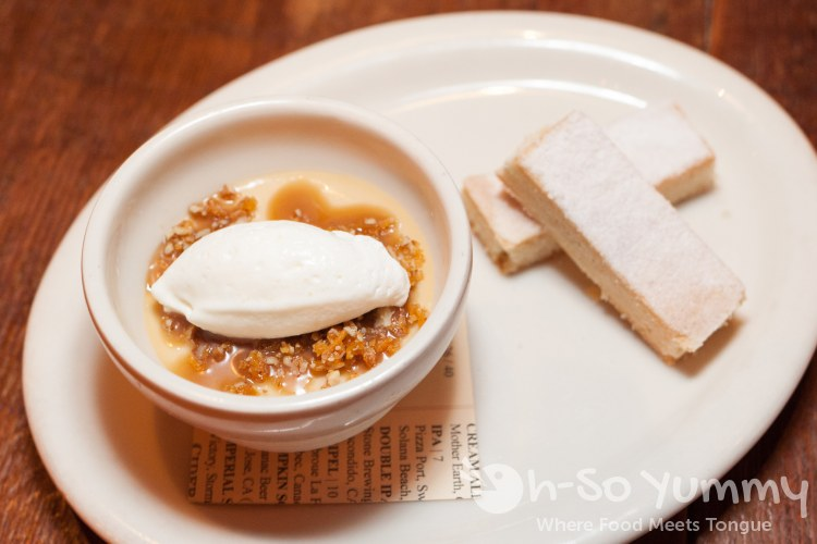 Butterscotch Pudding at Bankers Hill Bar + Restaurant