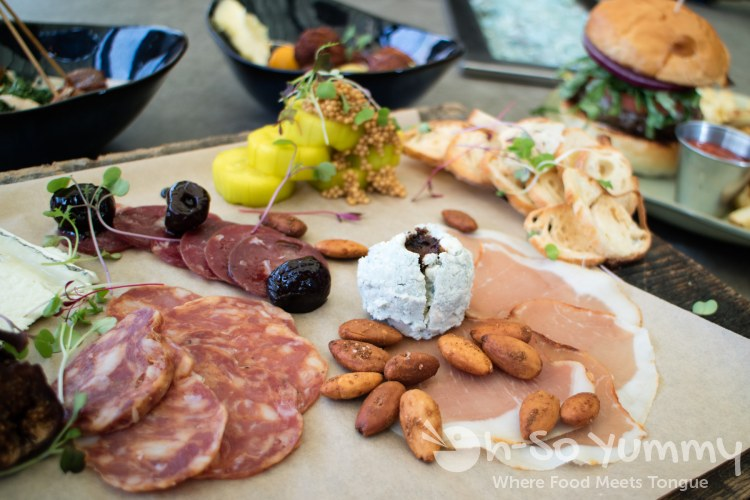 artisan meats, cheese and other food at Barrel Republic in Carlsbad