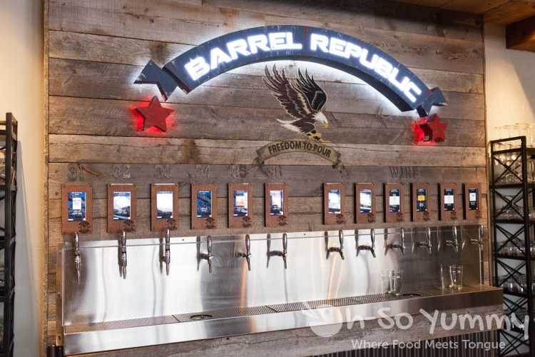 beer taps at Barrel Republic in Carlsbad