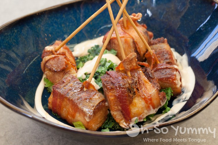 bacon-wrapped pork belly at Barrel Republic in Carlsbad