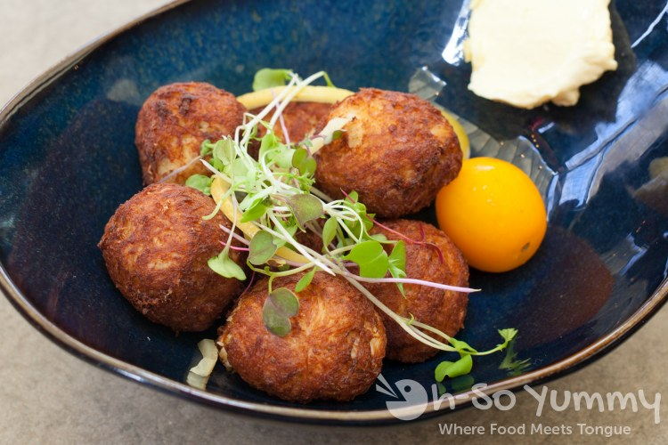 mini crabcake bites at Barrel Republic in Carlsbad