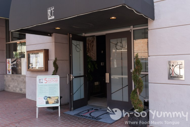 entrance to BiCE Ristorante in downtown San Diego