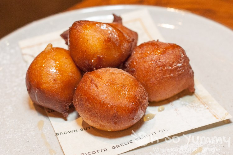 zeppole at BIGA for San Diego Restaurant Week