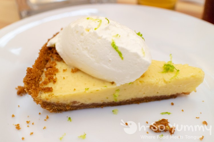 Rick Daniels with Iron Pig Alehouse served Key Lime Pie