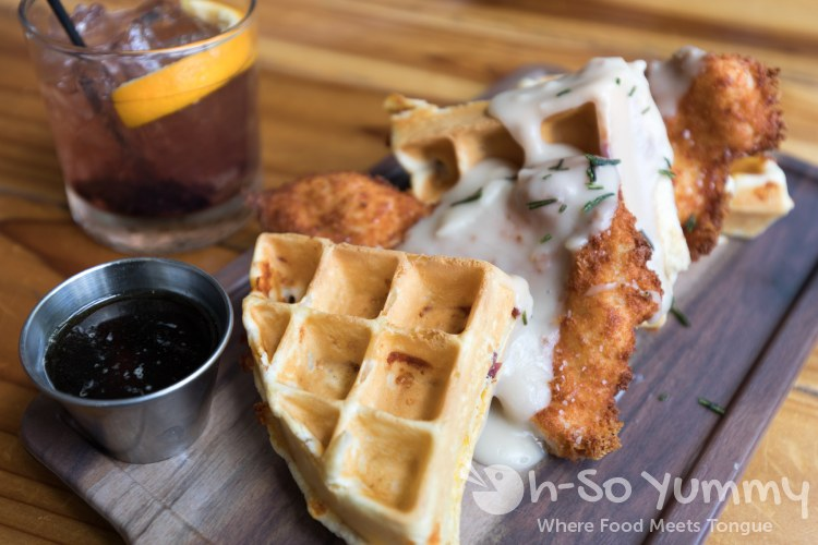 Chicken and Waffles at Blackbird Tavern in Old Town Temecula