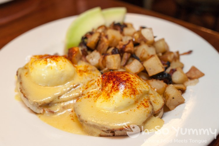 Oscar's Pork Loin Benedict at Brian's 24 in downtown San Diego