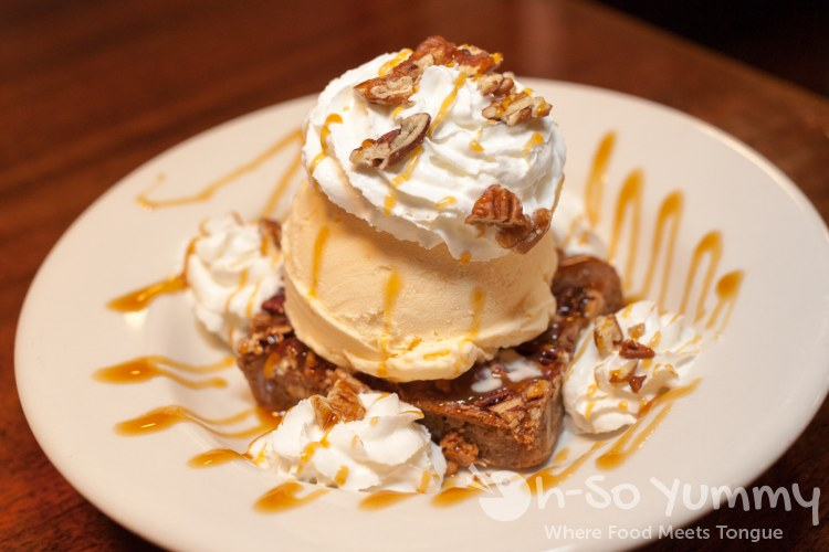 Chewy Pecan Blondie at Brian's 24 in downtown San Diego