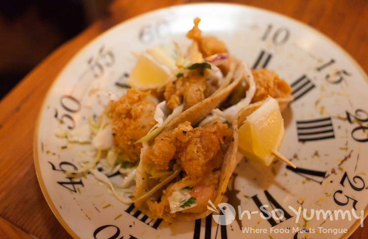 Shrimp Tacos at Brooklyn Girl Eatery in San Diego