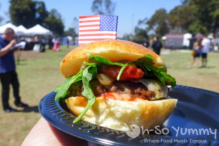 Firehouse burger at San Diego Reader Burgers and Beer