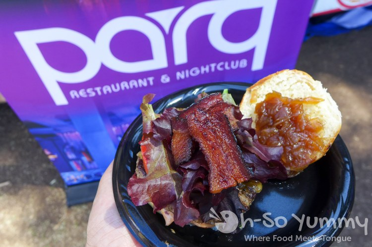 Parq burger at San Diego Reader Burgers and Beer