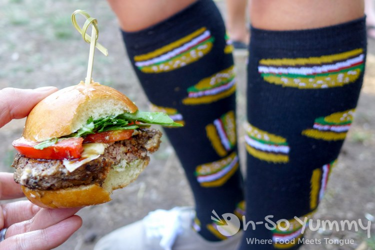 slider and burger socks at San Diego Reader Burgers and Beer