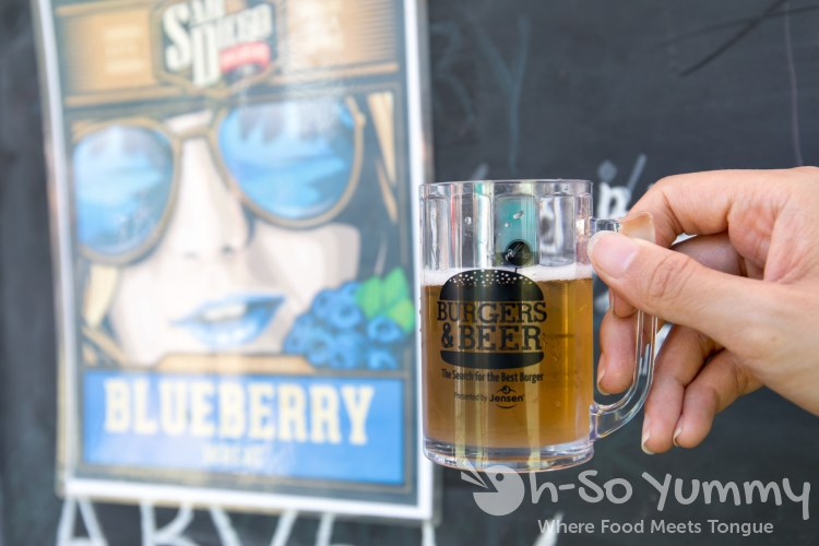 San Diego Brewing blueberry beer at San Diego Reader Burgers and Beer 2018