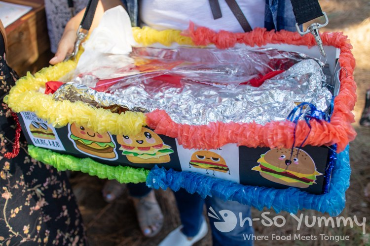 burger holder at San Diego Reader Burgers and Beer 2018